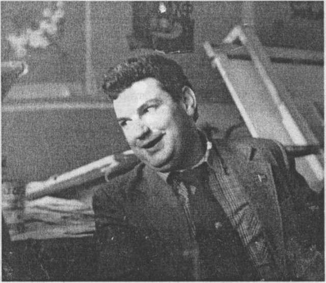 Андрій Новаківський в реставраційній май-стерні. Фото 1981 р.